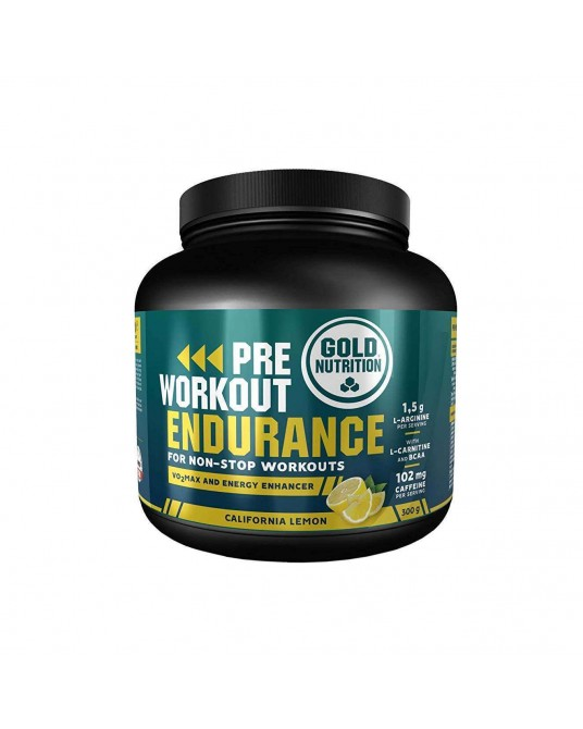 Gold Nutrition Pre Workout Endurance 300 gr laranja