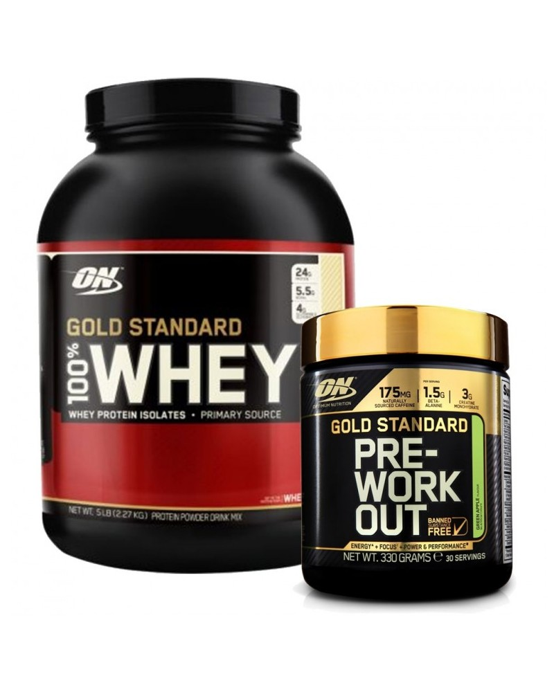 Optimum 100% Whey Gold Standard 2,27Kg + Pre Workout 330 gr