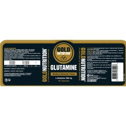 Gold nutrition glutamine 90 capsulas